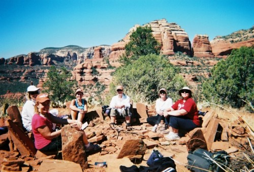 Sedona Yoga & Hiking Retreats: Meditating outdoors at a vortex