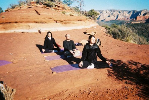 Yoga & Hiking Retreats in Sedona: vortex yoga and meditation outdoors