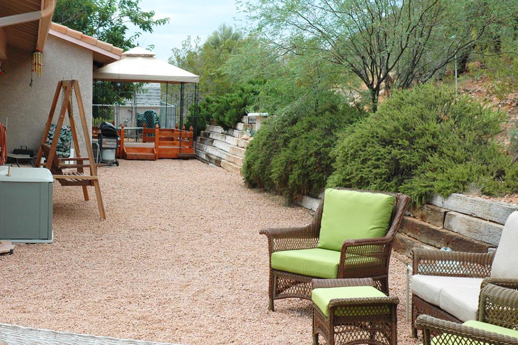 View of gazebo in private back yard