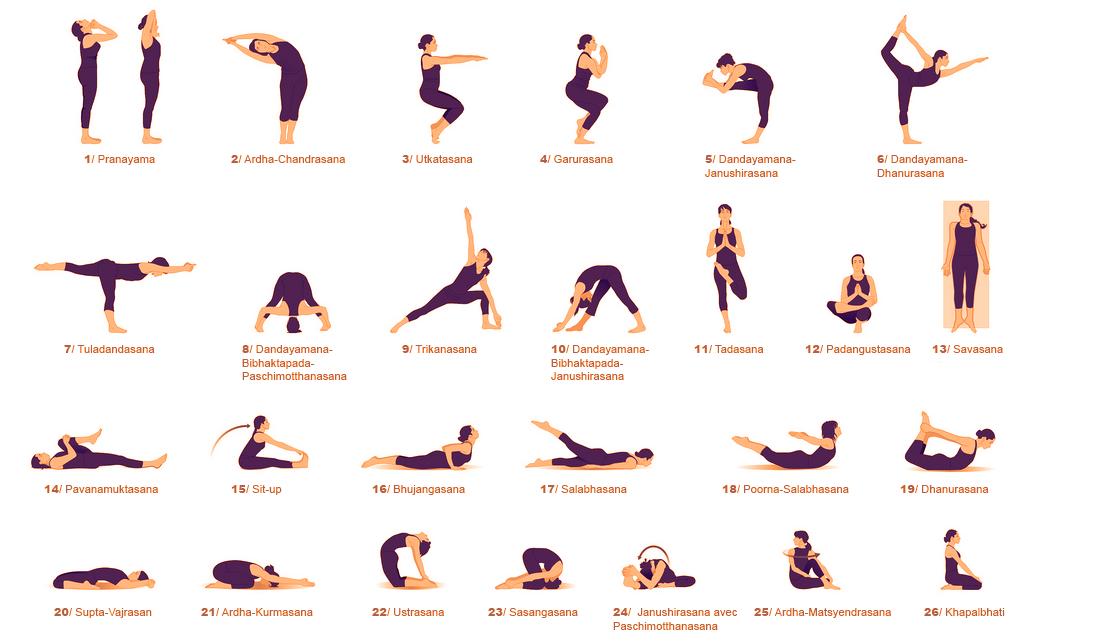 йога асаны в картинках для начинающих